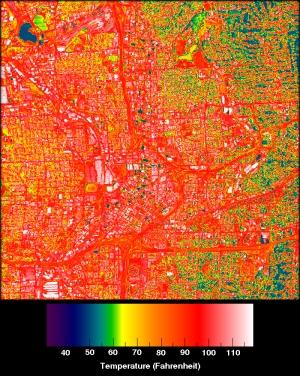 NASA urban heat map
