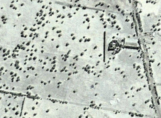 The same paddock 65 years later, in 2013. This view is 1.6 kms wide. Photo source: Google Earth.