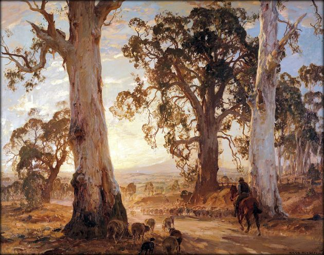 Hans Heysen Droving into the Light