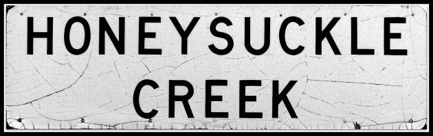 Honeysuckle Ck Road Sign 2