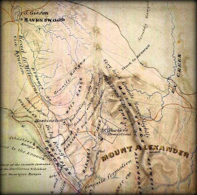 Selwyn map Mt Alexander