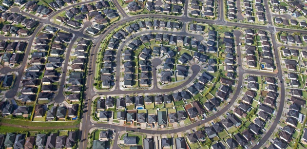 New suburbs with small blocks have fewer trees in backyards and along streets